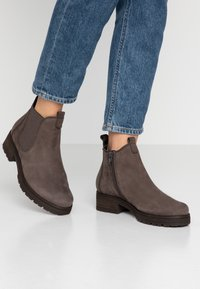 Gabor - WIDE FIT - Ankle boots - anthrazit - 0