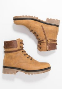 Gabor - Lace-up ankle boots - corn/peanut - 3