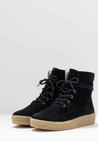 Gabor - Lace-up ankle boots - pazifik - 4