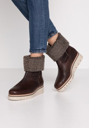 Wedge Ankle Boots - moro/mocca