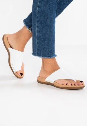 Sandalias de dedo - weiß