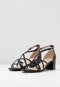 Gardenia - VARETIA TRENZADO NEPAL - High Heel Sandalette - black - 4