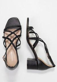 Gardenia - VARETIA TRENZADO NEPAL - High Heel Sandalette - black - 3