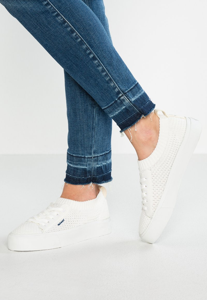 GANT - LONG BEACH - Sneakersy niskie - surf white