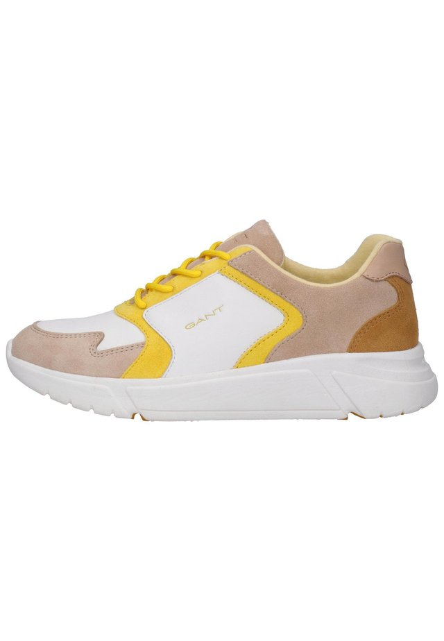 COCCOVILLE - Sneakersy niskie - br.wht./beige/yellow g294