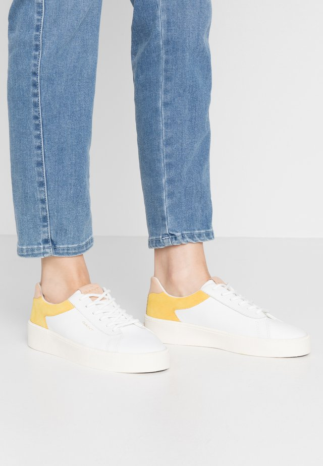 LAGALILLY - Sneakers - birght white/mim yellow