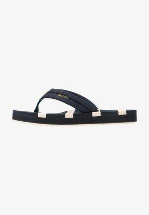 LEMON BEA - T-bar sandals - marine