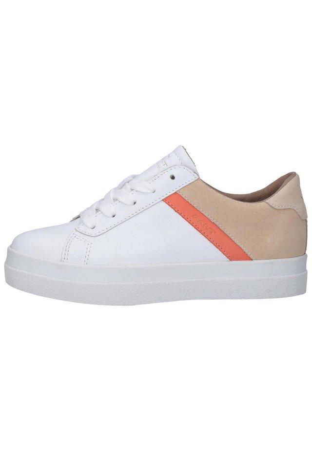 Sneakersy niskie - br. wht./maca. beige g287