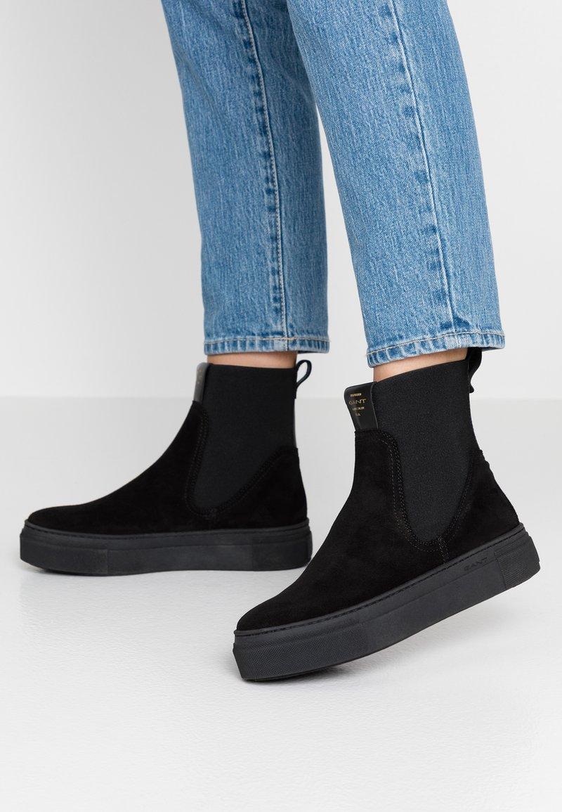 GANT - MARIE - Kotníkové boty na platformě - black