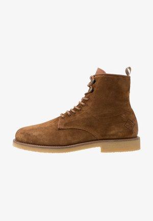 BARKLEY - Lace-up ankle boots - cognac