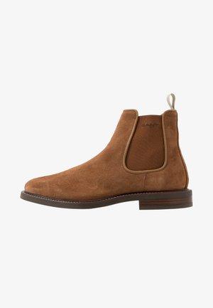 AKRON - Kotníkové boty - cognac