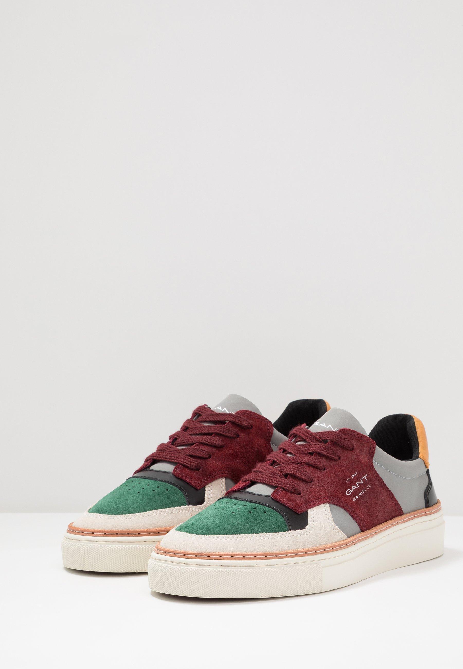 GANT MC JULIEN - Sneakersy niskie - green/gray/red