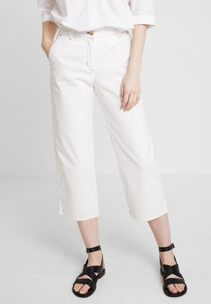 CROPPED SLIM SLOUCH - Jean droit - eggshell