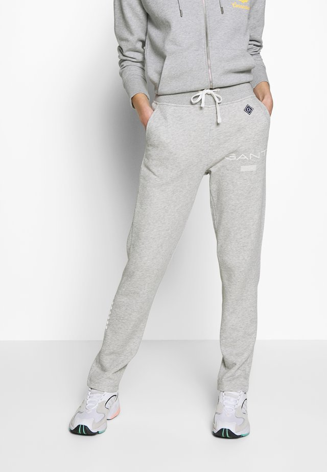 Pantalones deportivos - light grey melange