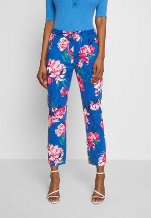 PEONIES PRINTED PANT - Pantaloni - bright cobalt