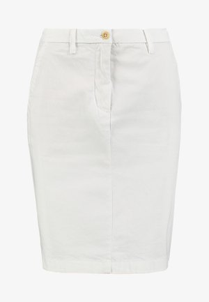 CLASSIC CHINO SKIRT - Gonna a tubino - white