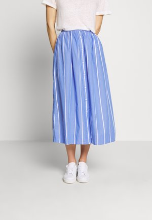 STRIPED SKIRT - A-line skirt - periwinkle blue