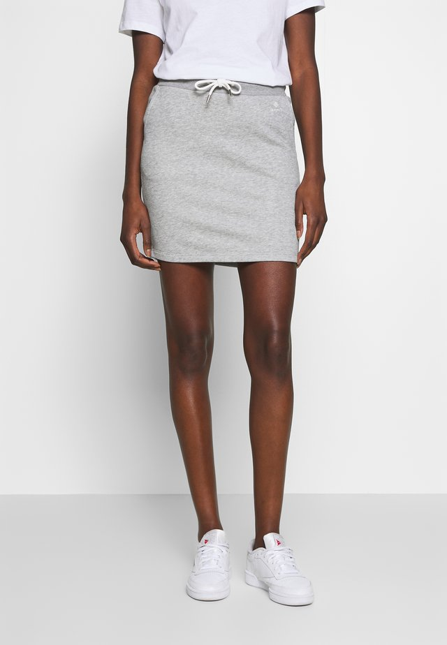 GANT LOCK UP SKIRT - Minifalda - grey melange