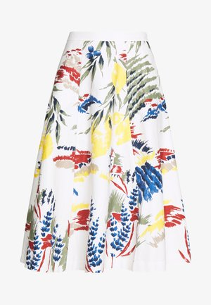 RIVIERA VIEW PRINTED SKIRT - A-line skirt - eggshell
