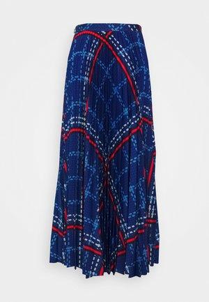 SIGNATURE WEAVE PLEATED SKIRT - Jupe longue - crisp blue