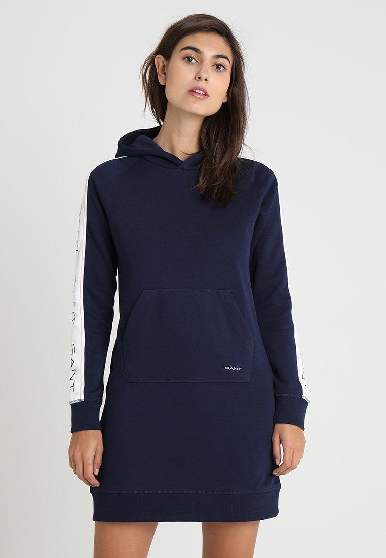 GANT - ICON HODDIE DRESS - Freizeitkleid - evening blue