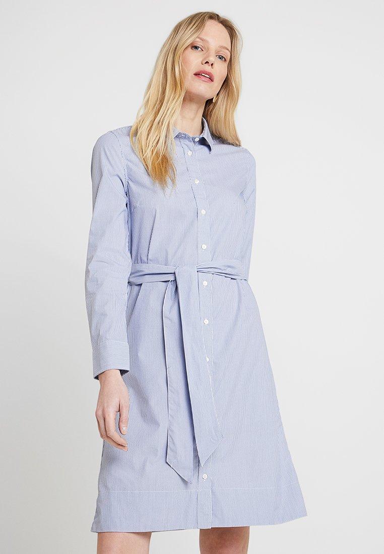 GANT - FINE STRIPED DRESS - Blusenkleid - nautical blue