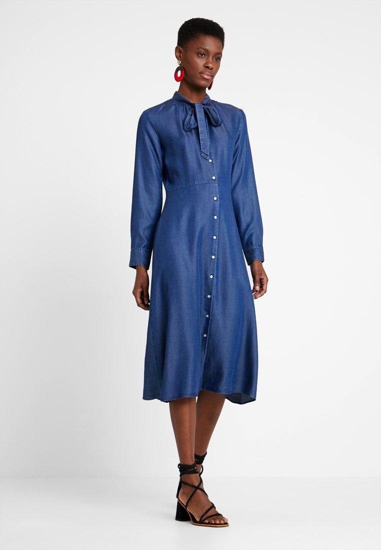 GANT - BOW DRESS - Vestido largo - dark indigo