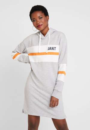 GRAPHIC BLOCK STRIPE DRESS - Robe d'été - light grey melange