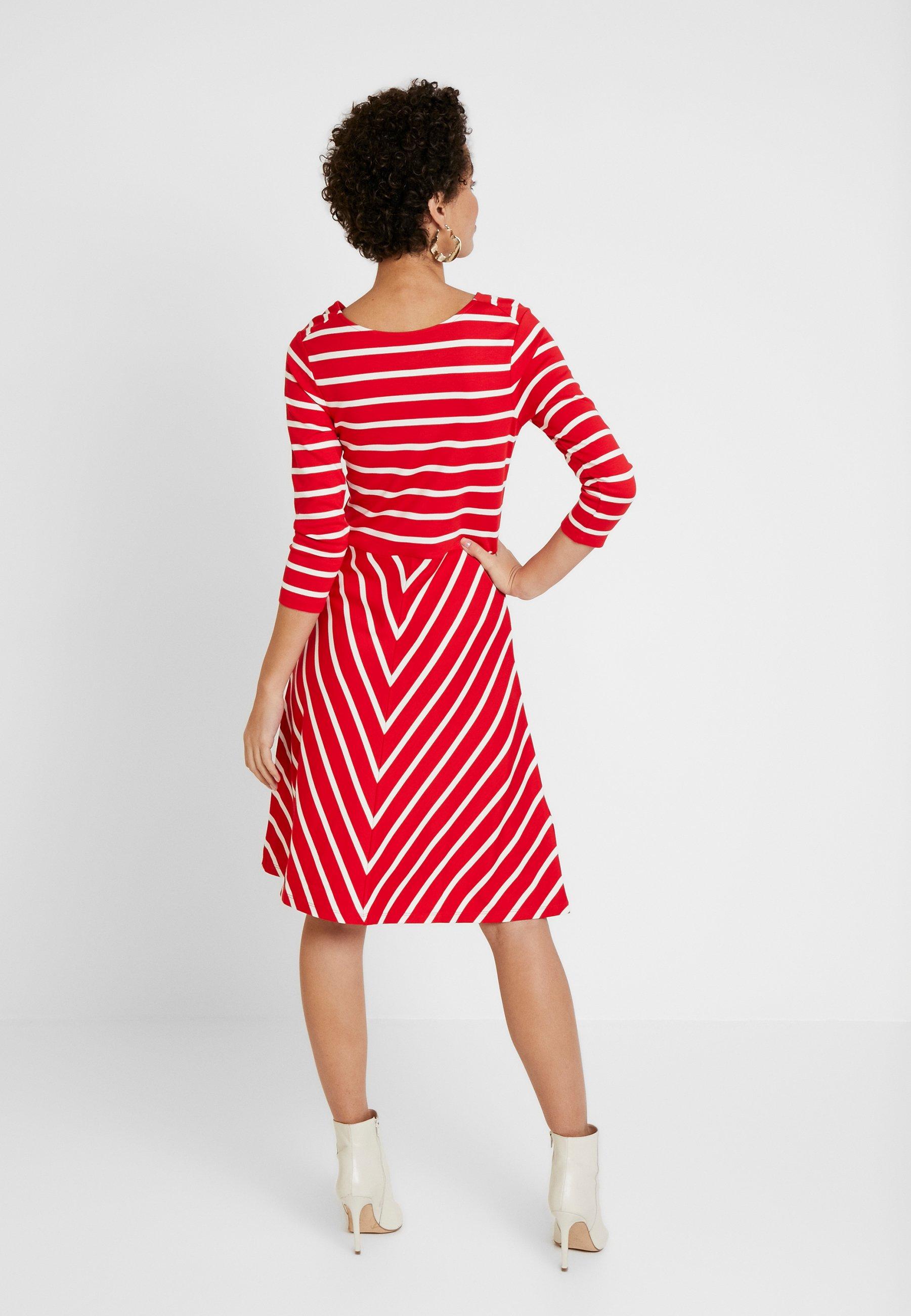 GANT Robe en jersey - rouge bright red