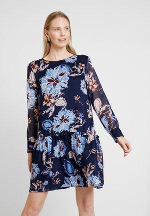 MARINE PAISLEY DRESS - Day dress - persian blue