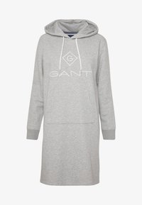 GANT - LOCK UP HOODIE DRESS - Denní šaty - grey melange - 3