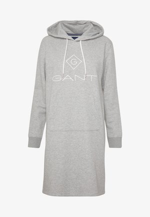 LOCK UP HOODIE DRESS - Korte jurk - grey melange