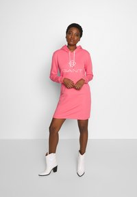 GANT - LOCK UP HOODIE DRESS - Day dress - rapture rose - 1