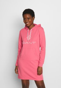 GANT - LOCK UP HOODIE DRESS - Day dress - rapture rose - 0