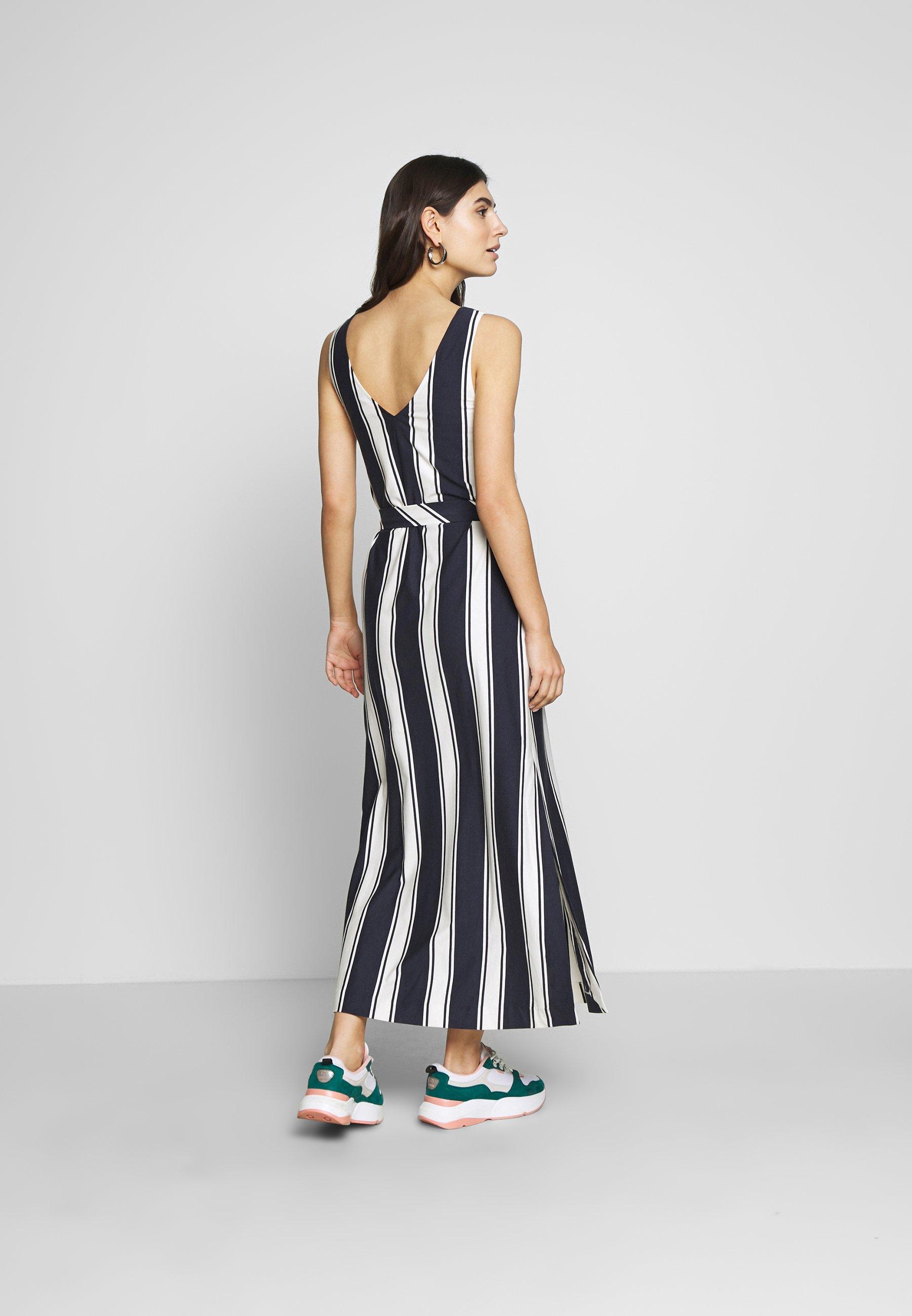 Gant Striped Maxi Dress - Maxi-jurk Evening Blue