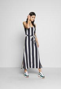 GANT - STRIPED MAXI DRESS - Maxi dress - evening blue - 0