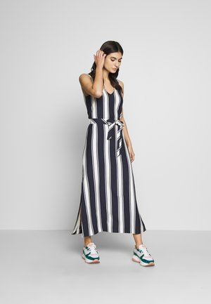 STRIPED MAXI DRESS - Maxi dress - evening blue