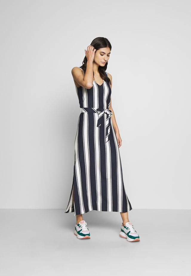 STRIPED MAXI DRESS - Vestido largo - evening blue
