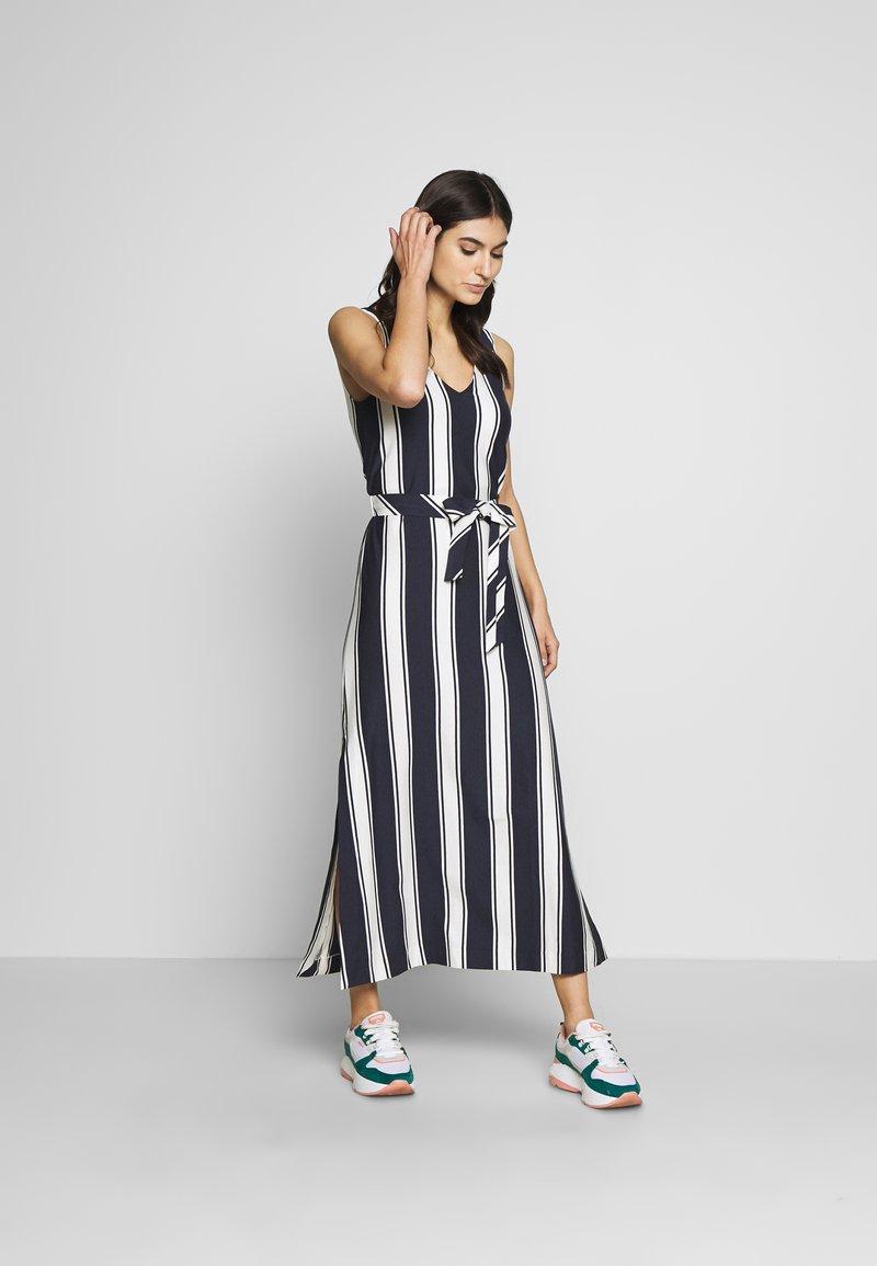 GANT - STRIPED MAXI DRESS - Maxi dress - evening blue