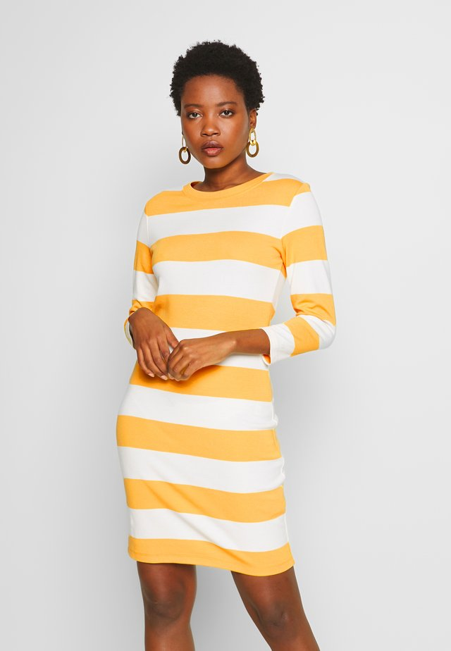 BARSTRIPED  - Vestido de tubo - mimosa yellow