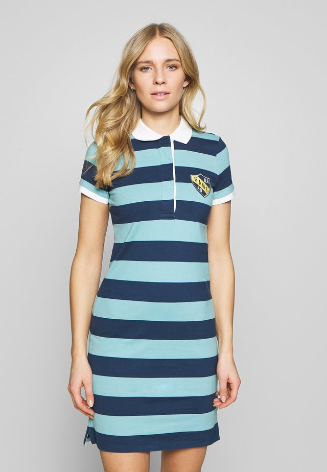 SUMMER STRIPE RUGGER DRESS - Jerseyklänning - aqua