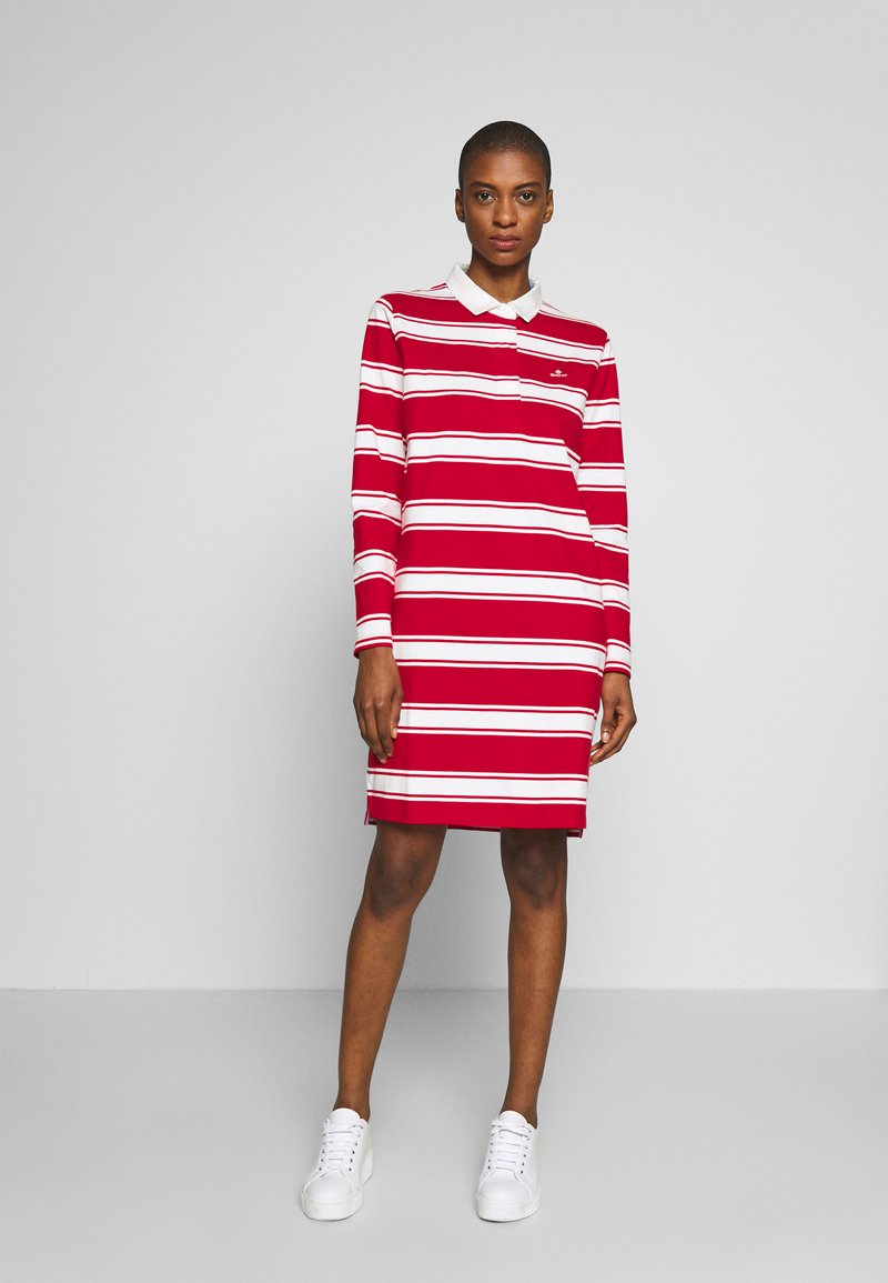 GANT - HEAVY RUGGER DRESS - Denní šaty - bright red