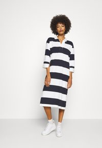 GANT - FEMININE STRIPED RUGGER DRESS - Tubino - evening blue - 0