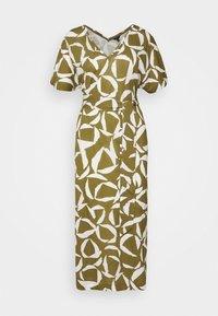 GANT - CRESENT BLOOM DRESS - Žerzejové šaty - olive green - 4