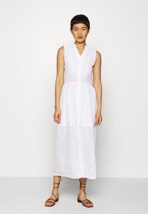 BROIDERY ANGLAIS MIX DRESS - Robe chemise - white