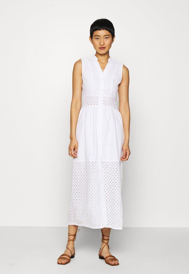BROIDERY ANGLAIS MIX DRESS - Sukienka koszulowa - white