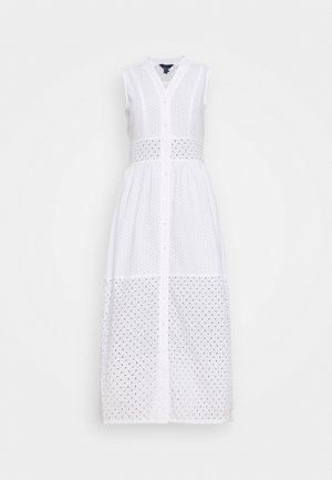 BROIDERY ANGLAIS MIX DRESS - Abito a camicia - white