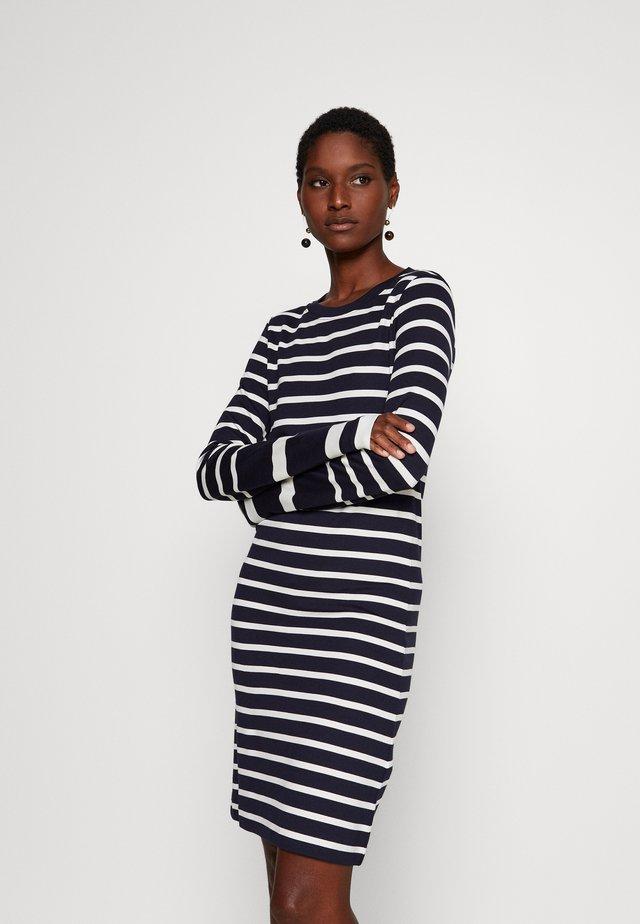 DETAIL STRIPE DRESS - Sukienka z dżerseju - evening blue