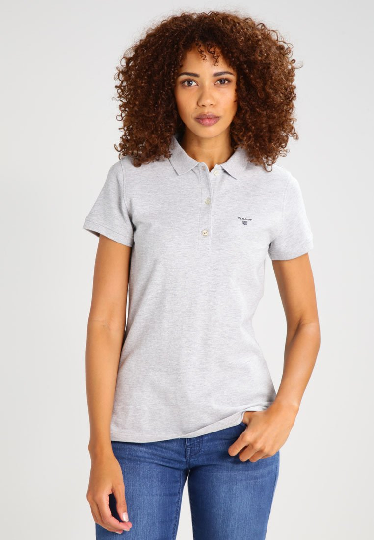 GANT - THE SUMMER - Polo - light grey melange