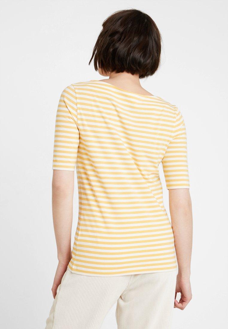 Honey Boatneck Imprimé StripedT Gant shirt Gold 5L3R4Ajq